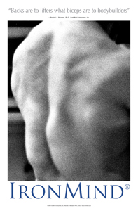Backs are to lifters what biceps are to bodybuilders. This set of spinal erectors says it all: Very Big Lifts Done Here.