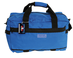 "Large Gym Bag: This premier gym bag is tough and versatile--and a frequet flyer:  easy to pack with a huge appetite: shoes, belt, warm-ups, lifting suit are just the beginning 20"" long x 11"" high x 10"" wide detachable shoulder strap; handles with cover 1 zippered side pocket, zippered pockets at ends; 1 zippered interior pocket reinforced seams"