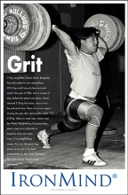 Grit: Zlaten Vanev had it. Challenge is a prerequisite for transformation, and a barbell coupled with an iron will is how Vanev was forged in fire, cleaning 210 kg, only to miss the jerk. A couple of days before, Vanev had made five attemtps on the same 210-kg, cleaning the weight but missing the jerk each time--all under the watchful eye of fabled coach Ivan Abadjiev in the Bulgarian training hall. The good news is that about a week later, Vanev won the World Weightlifting Championships.