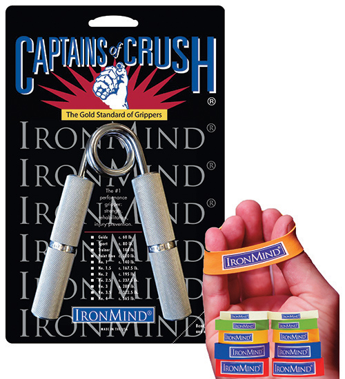 IronMind Captains of Crush grippers and Expand-Your-Hand Bands are the top two choices for strong and healthy hands. These products, along with IMTUG and Zenith grippers, the SUPER SQUATS Hip Belt, IronMind lifting straps and Headstrap Fit For Hercules are introduced and explained in a new series of videos. IronMind® | Image courtesy of IronMind Enterprises, Inc.
