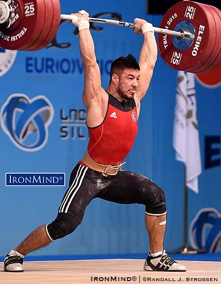 Tbilisi—Continuing his push to the top, Daniyar Ismayilov (Turkey) posted a world class 337-kg total to win the 69-kg category at the European Weightlifting Championships.  As his total keeps increasing, Turkey's Daniyar Ismayilov is on a trajectory that could make him the man to beat in the 69-kg category. IronMind® | Randall J. Strossen photo