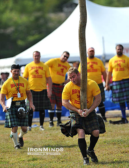Dan McKim won his first title in the 2011 edition of these Highland Games World Championships (at Loon Mountain), and comes into the 2014 contest as the defending champion, fresh off multiple world record performances. IronMind® | Randall J. Strossen photo