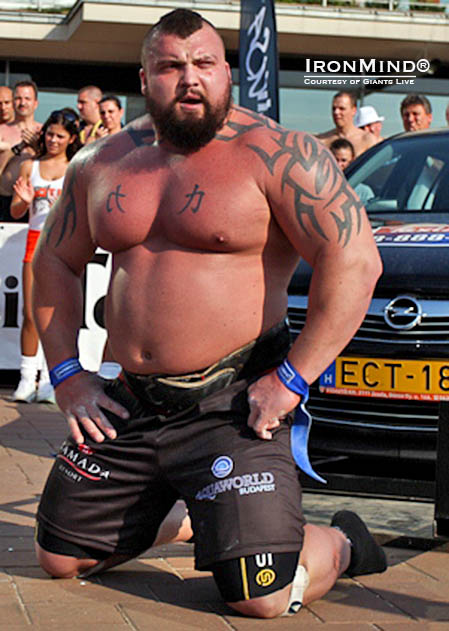 Eddie Hall was runner-up at Giants Live Budapest last year and has to be the favorite in 2014.  IronMind® | Photo courtesy of Giants Live