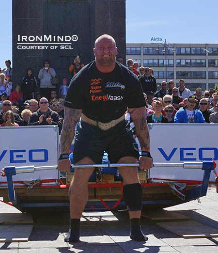 Hafthor Julius Bjornsson notched a win at SCL Finland this weekend.  IronMind® | Photo courtesy of SCL