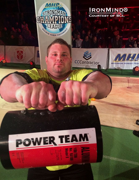 Martin Wildauer was second at MHP Strongman Champions League–Estonia, which was good enough for him to maintain his lead in the race for the 2014 season title. IronMind® | Photo courtesy of SCL