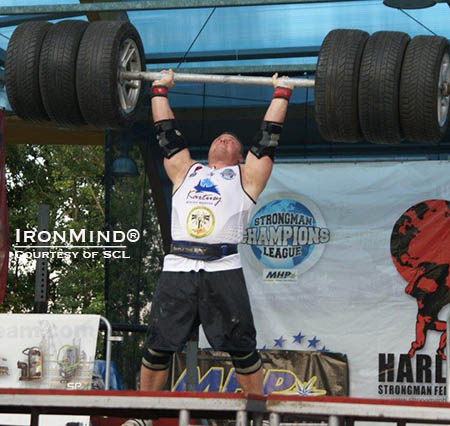 He's one of the top competitors on the professional strongman circuit so when Krzysztof Radzikowski returned to competition, his presence was felt: he won half the events, along with the overall title, at SCL Poland last weekend.  IronMind® | Photo courtesy of SCL