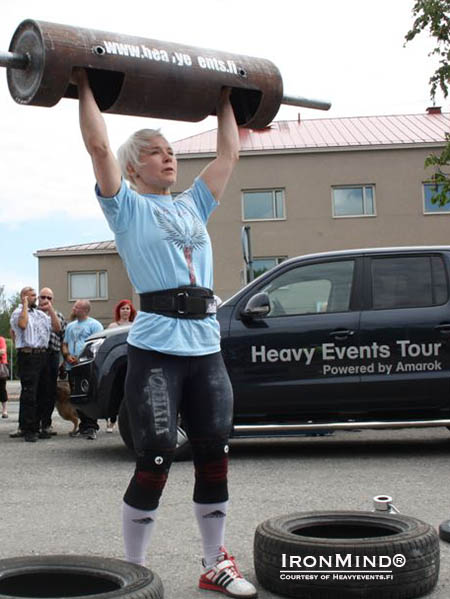 """In the photo, Sanna Savolainen reps out log lift, multiplying the result that the others did."" IronMind® 