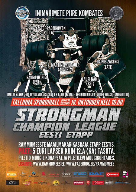 Strongman fans: SCL Estonia is this Saturday (18 October 2014), starting at 4 p.m. (16.00 hours). IronMind® | Artwork courtesy of SCL