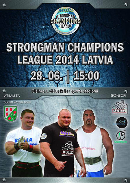 MHP Strongman Champions League is coming to Riga, Latvia tomorrow.  IronMind® | Image courtesy of SCL