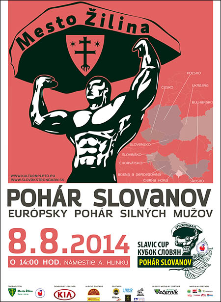 """This Friday, 8 August 2014 at 14:00 the Hlinka square in Žilina, Slovakia will host a strongman competition entitled Cup Slavs!,"" Pavol Guga reported to IronMind."