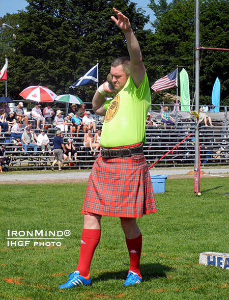 Lukasz Wenta is the top ranked European Highland Games competitor so far this season.  IronMind® | IHGF photo