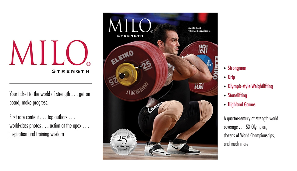 MILO: Strength: Your ticket to the world of strength