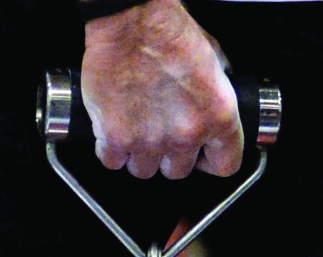 Pinching - the thumb provides the power, as when pinch gripping plates