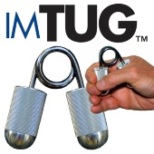 With IMTUG, you train one or two fingers at a time. And your thumb is not excluded: by training your pinch grip, you make sure that your thumb is working in powerful opposition to your digits for maximum holding strength and control.   Imagine: with IMTUG, you can target each finger individually to make it a worthy component of your total hand strength. As you strengthen your fingers, you improve the overall health and condition of your hand, increasing muscle balance, range of motion, and flexibility.