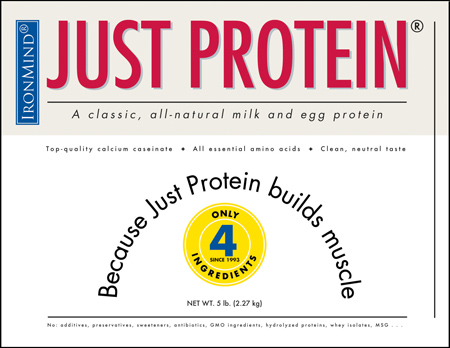 Just Protein, buidling might and muscle since 1993