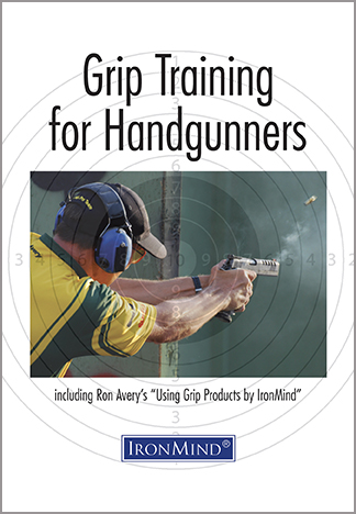 "Let firearms expert and professional shooter Ron Avery tell you how he trained with IronMind's grip products to recover from surgery and rebuild ""the grip strength in my hands to between 165 and 195 lb. My splits are in the .12 - .15 range, and on a good day I can do this speed out to 15 yards in practice with really good hits."""