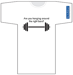 IronMind T-shirt - Are you hanging around the right bars?