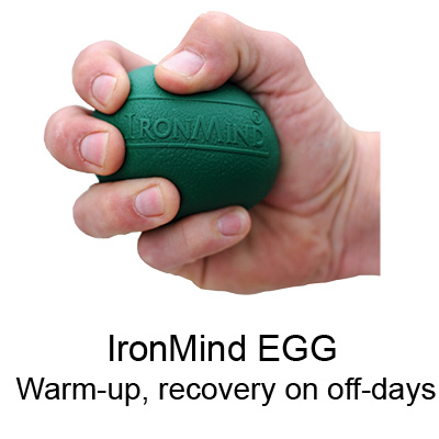 Warm-ups, active rest and recovery, stress-relief, repping out, or max efforts, the IronMind EGG can be squeezed as gently or as ferociously as you'd like.