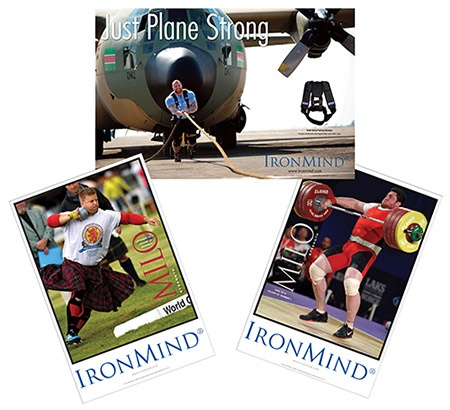 Featuring IronMind's signature images by leading strength world photojournalist Randall Strossen, let our latest trio of posters fill your eyes and put some fire in your belly: Scott Rider (Highland Games), Lasha Talakhadze (weightlifting), Hafthor Julius Bjornsson (strongman). IronMind® | ©Randall J. Strossen photos