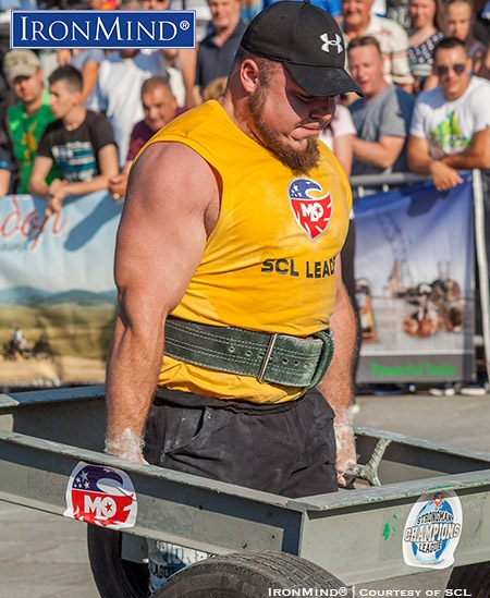 Matjaz Belsak (Slovenia) is the overall leader of MLO Strongman Champions League at this point in the 2016 tour. IronMind® | Image courtesy of SCL