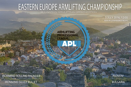 The 2016 APL Eastern European Armlifting Championships sets a new standard for focus in the grip world: one bodyweight category and two benchmark grip strength events—the Rolling Thunder and the Captains of Crush (CoC) Silver Bullet Challenge—with a men's class and a women's class. That's it. IronMind® | Image courtesy of APL