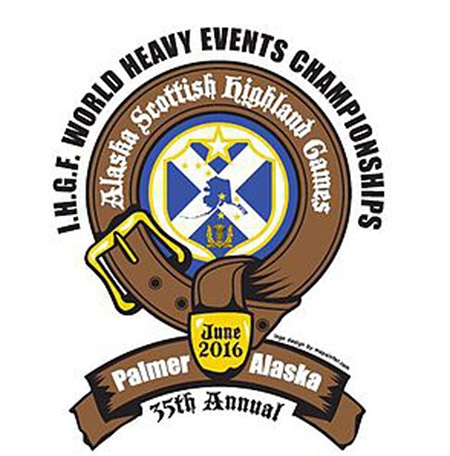 Palmer, Alaska will be welcoming the world's top Highland Games heavy events competitors to the 2016 IHGF Highland Games World Championships. IronMind® | Artwork courtesy of IHGF/Alaska Scottish Club