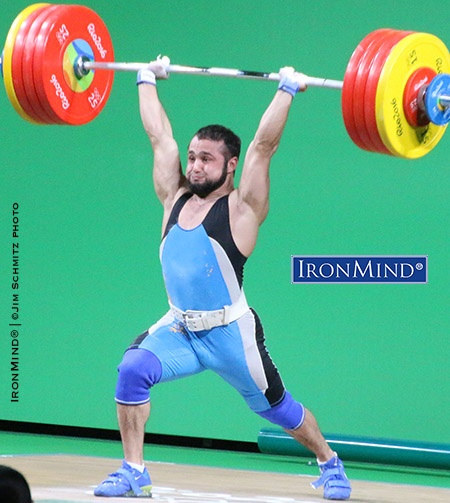 Kazakhstan's Nijat Rahimov broke a 15-year old world record by 4 kilos in order to win the gold medal in the 7- kg class.  