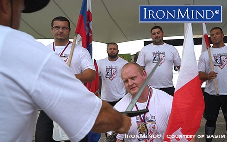 Polish strongman Rafal Kobylarz dominated the competition at the Trencin Castle. IronMind® | Photo courtesy of SASIM