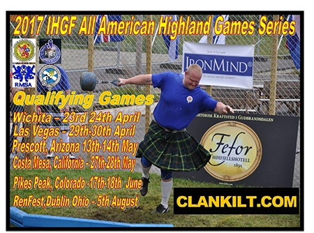 Highland Games athletes around the USA will be able to take part in the IHGF All-American series. IronMind® | Artwork courtesy of IHGF