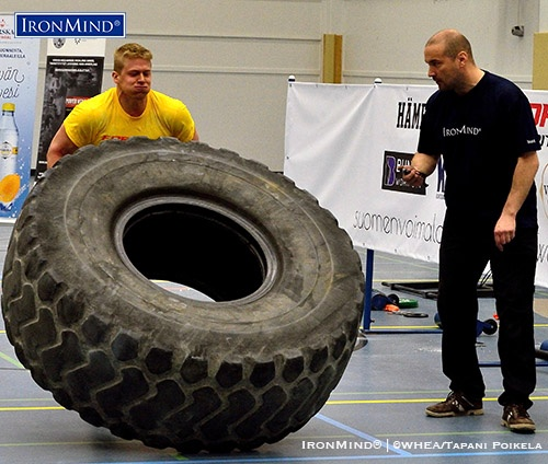 Eemeli Majamaa on the truck pull in the 2016 Pure Power™ event. IronMind® | Photo by WHEA/Tommi Ääri
