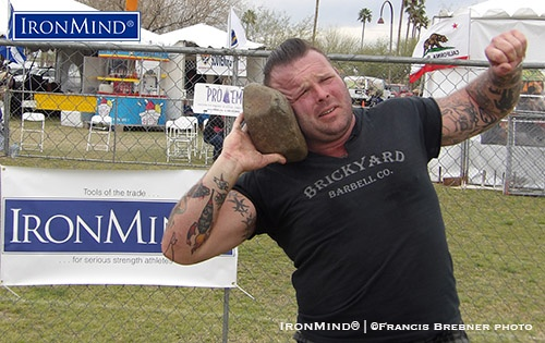 Eli Kiener is new to the Highland Games, but his impressive performance suggested that the former college shot putter and football player has a big future in heavy athletics. IronMind® | ©Francis Brebner photo