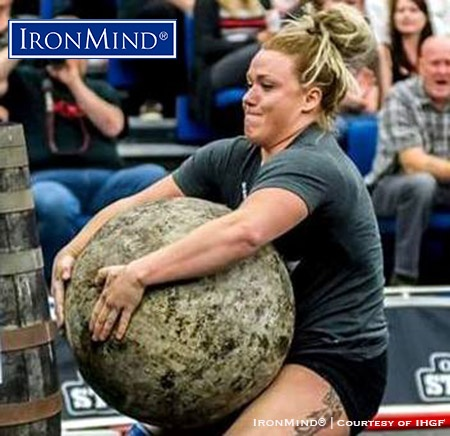 Liefa Ingalls (USA) will be going head-to-head with Anna Harjapaa (Sweden) in a women's stonelifting championships, part of a big IHGF weekend in Fefor, Norway. IronMind® | Courtesy of IHGF