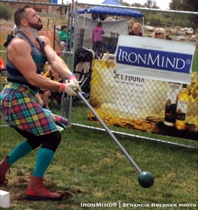 Eddie Brown hammered the field at the Costa Mesa Highland Games and he has qualified for the IHGF All American Highland Games Championships. IronMind® | ©Francis Brebner photo