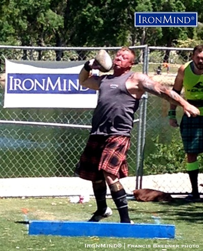 John Anthony turned in another strong performance, as he won the A-division Las Vegas Highland Games heavy events competition. IronMind® | Photo courtesy of Francis Brebner