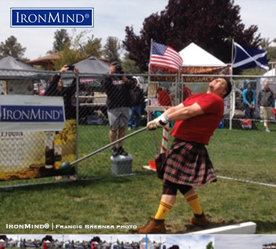 Kyle Lillie is a name to remember in the Highland Games heavy events. IronMind® | Photo courtesy of Francis Brebner