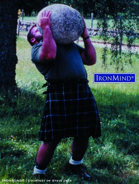 Since Steve Jeck's letter (and photo) to the editor—highlighting his experience lifting the Inver Stone—were published in the January 1994 (Volume 1, Number 4) issue of MILO, the stone lifting world has never been the same. IronMind® | Courtesy of Steve Jeck