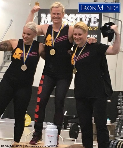 Here's the -85kg class podium from the 2017 Swedish Strongwoman Championships held on Saturday at Massive Performance in Sjöbö, Sweden: Emelie Rapp, Kornelia Solvestad and Josefin Hansen. IronMind® | Photo courtesy of WHEA