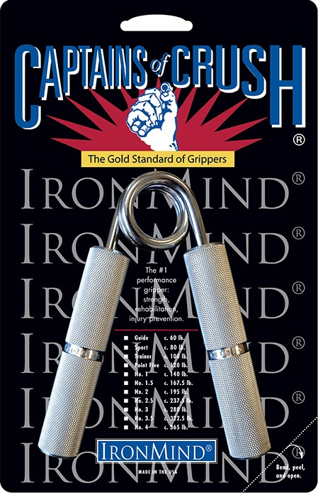 Captains of Crush®—the gold standard of grippers—are now available as counterfeits, so buyer beware. This is the real McCoy, available from IronMind and our authorized resellers. ©IronMind Enterprises, Inc