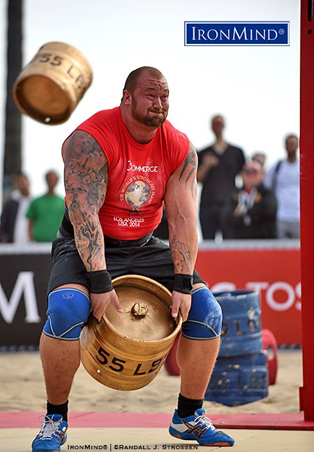 Even if he's not yet hit your strongman radar beforehand, after his riveting performance at the 2014 World's Strongest Man contest, it was impossible to see Hafthor Julius Bjornsson as a WSM winner, probably anytime and probably many time. IronMind® | ©Randall J. Strossen photo