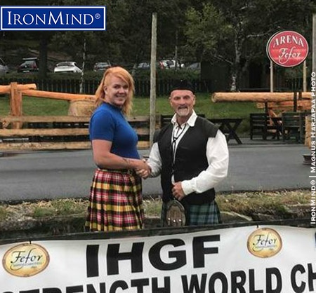 Kikki Berli-Johmsen—whose experience in strength sports includes both competing in strongwoman and reporting on strongman—will be representing Norway for the International Highland Games Federation (IHGF). IronMind® | Magnus Harjapaa photo