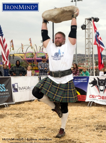 Casey Garrison won the 2018 IHGF All-American Stones of Strength, held in San Clemente, Calilfornia. IronMind® | ©John Hanson photo