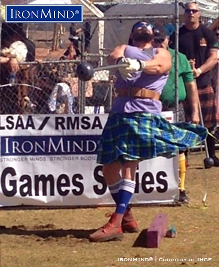 Wins on both hammers helped to power Eddie Brown to victory at the Phoenix Highland Games. IronMind® | IHGF photo