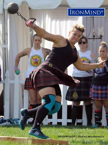 Heather MacDonald came to the Highland Games from track and has made her mark on the sport. IronMind® | Dana MacDonald photo