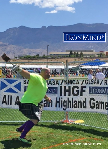 John Anthony won the A group at the Rio Grande Valley Highland Games, which qualified him for the IHGF All-American Highland Games Championships in September. IronMind® | ©IHGF photo