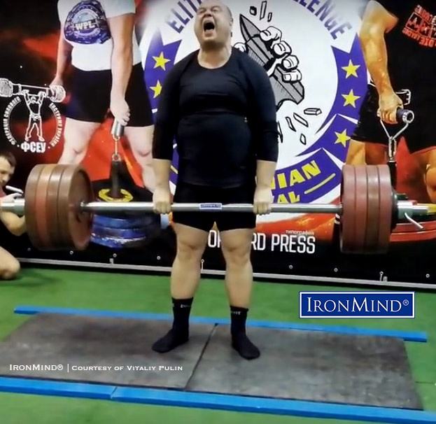 It was known that Igor Kupinsky had his sights set on the Apollon's Axle world record and he hit his target at the Elite Grip Challenge, with this 236.10-kg success. IronMind® | Courtesy of Vitaliy Pulin