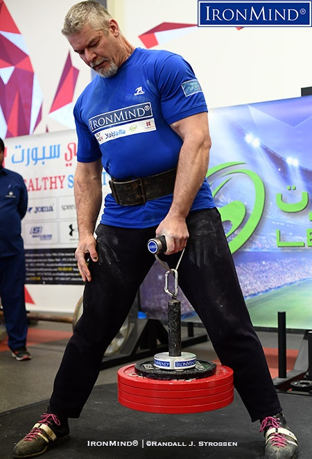 After making this 115-kg Rolling Thunder look supremely easy, Laine Snook jumped to 131.5 kg, in an attempt to break Alexey Tyukalov's world record, but it was not to be. IronMind® | ©Randall J. Strossen photo