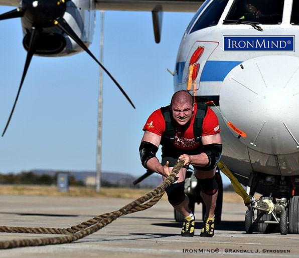 At the 2017 World's Strongest Man contest, Mateusz Kieliszkowski advanced one place from his debut the year before, but more than moving from seventh to sixth overall, he won the prestigious Plane Pull with a dominating performance—from that moment forward, it was no longer possible to overlook the powerful Pole. IronMind® | ©Randall J. Strossen photo
