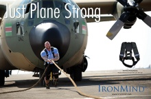 Just plane strong: Hafthor Julius Bjornsson in a duel with a Hercules C-130 military transport plane at the 2016 World's Strongest Man.