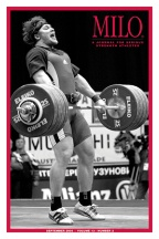 Evgeni Chigishev cleans and jerks 242.5 kg for the silver in the total and the Best Lifter Award at the 2005 European Weightlifting Championships. Cover photo by Randall J. Strossen, Ph.D. from the September 2005 issue of MILO: A Journal for Serious Strength Athletes.