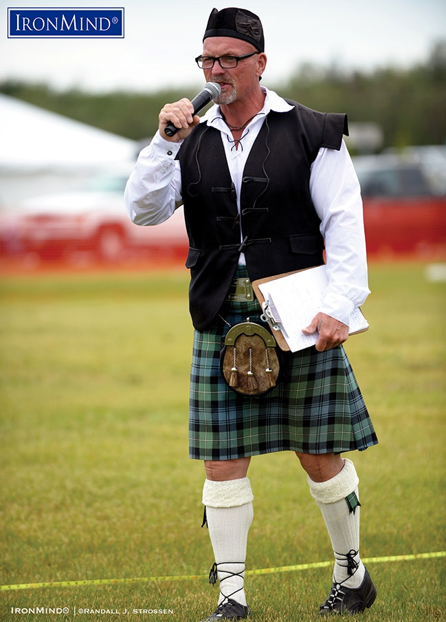 Best known for his many accomplishments in the Highland Games, Francis Brebner was also one of the original three men to lift the Inver Stone overhead. After retiring as a Highland Games competitor, Brebner poured his passion into the IHGF, which promotes events worldwide. IronMind® | ©Randall J. Strossen photo